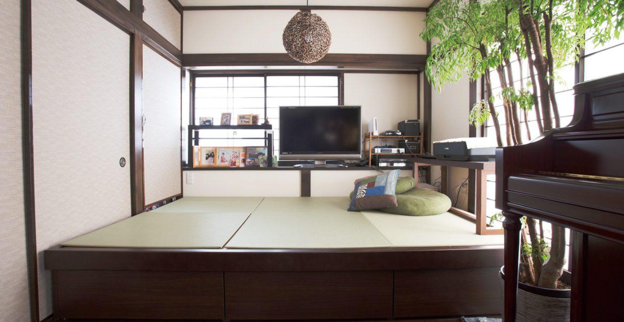 畳スペースは限りある空間を有効活用。 収納力をアップさせる「畳が丘」