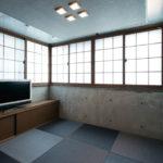 洋室を和室に。RCに合うよう縁のない琉球畳でモダンな和室に。