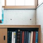 和室のTV台はアルバムに合わせ高さを確定。書院づくり風の造作家具。